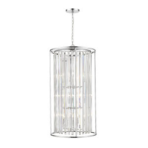 Monarch Chrome 12-Light Chandelier With Transparent Crystal