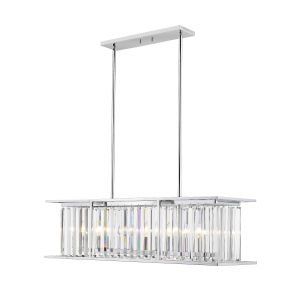 Monarch Chrome 39-Inch Six-Light Chandelier With Transparent Crystal