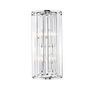 Monarch Chrome Four-Light Wall Sconce With Transparent Crystal
