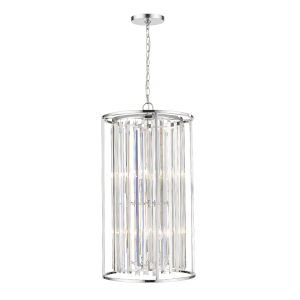 Monarch Chrome Eight-Light Chandelier With Transparent Crystal