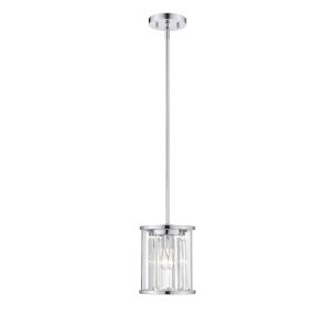 Monarch Chrome One-Light Mini Pendant With Transparent Crystal