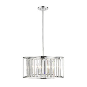 Monarch Chrome Six-Light Pendant With Transparent Crystal