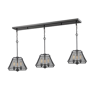Iuka Bronze Nine-Light Linear Pendant