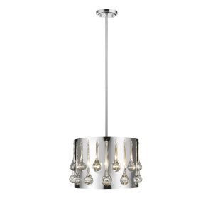 Oberon Chrome Three-Light Pendant
