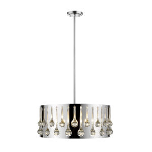 Oberon Chrome Five-Light Pendant