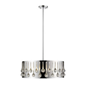 Oberon Chrome Six-Light Pendant
