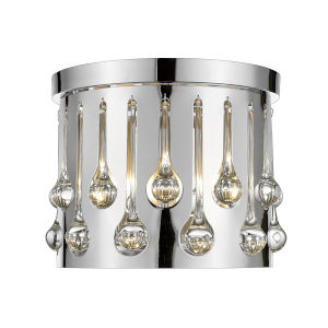 Oberon Chrome Three-Light Flush Mount