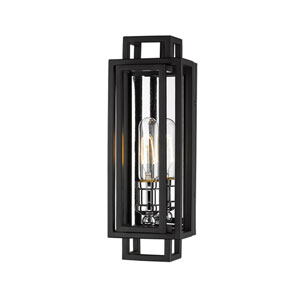 Titania Black and Chrome One-Light Wall Sconce