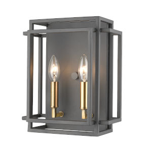 Titania Bronze and Olde Brass Two-Light Bath Vanity