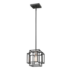 Titania Black and Brushed Nickel One-Light Mini Pendant