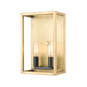 Quadra Olde Brass and Bronze Two-Light Bath Vanity