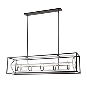Euclid Chrome and Matte Black 10-Light Pendant