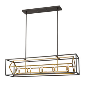 Euclid Olde Brass and Bronze 10-Light Pendant