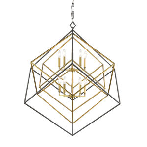 Euclid Olde Brass and Bronze 10-Light Chandelier