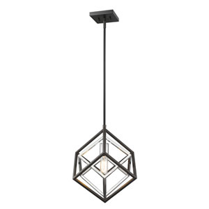 Euclid Chrome and Matte Black One-Light Pendant