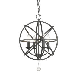 Tull Matte Black Four-Light Chandelier