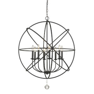 Tull Matte Black Eight-Light Chandelier