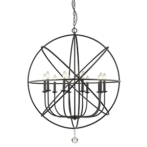 Tull Matte Black 10-Light Chandelier