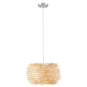 Sora Brushed Nickel One-Light Pendant