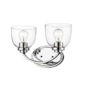 Ashton Chrome Two-Light Bath Vanity