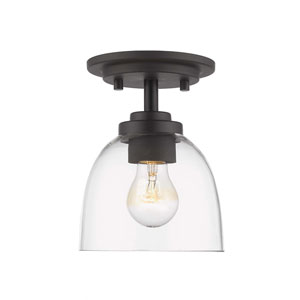 Ashton Bronze One-Light Flush Mount