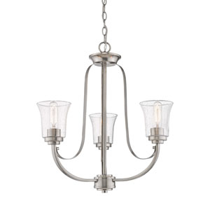 Halliwell  Brushed Nickel Three-Light Chandelier
