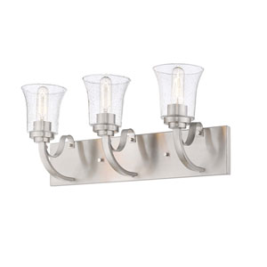 Halliwell  Brushed Nickel Three-Light Bath Vanity
