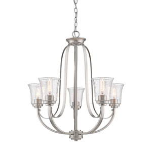 Halliwell  Brushed Nickel Five-Light Chandelier