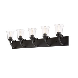 Halliwell  Bronze Five-Light Bath Vanity