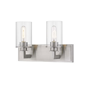 Savannah Brushed Nickel Two-Light Bath Vanity