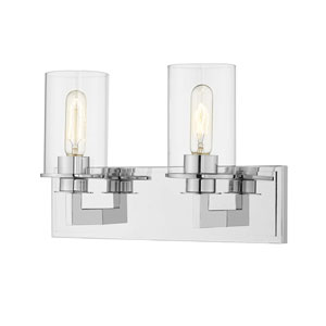 Savannah Chrome Two-Light Bath Vanity