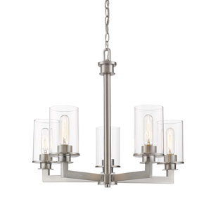 Savannah Brushed Nickel Five-Light Chandelier