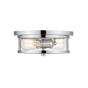 Savannah Chrome 11-Inch Two-Light Flush Mount