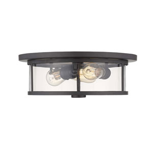 Savannah Bronze Three-Light Flush Mount