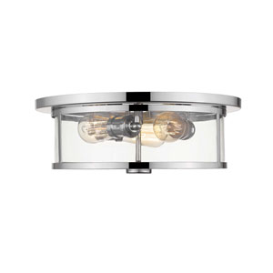 Savannah Chrome 15-Inch Three-Light Flush Mount