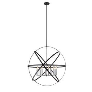 Cavallo Hammered Black and Chrome 10-Light Pendant