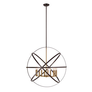 Cavallo Hammered Bronze and Olde Brass 10-Light Pendant
