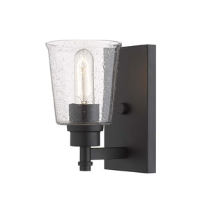 Bohin Matte Black One-Light Wall Sconce