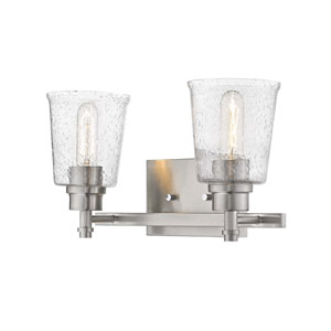 Bohin Brushed Nickel  Two-Light Bath Vanity