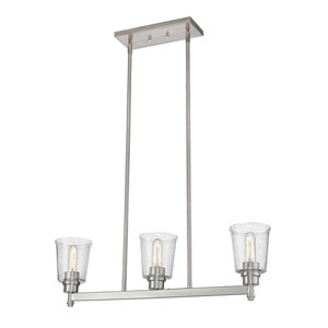 Bohin Brushed Nickel  Three-Light Pendant