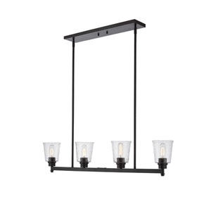 Bohin Matte Black Four-Light Pendant