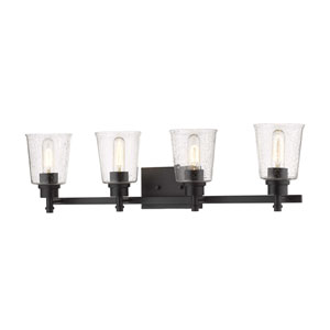 Bohin Matte Black Four-Light Bath Vanity