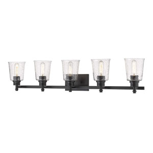 Bohin Matte Black Five-Light Bath Vanity