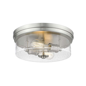 Bohin Brushed Nickel  Two-Light Flush Mount
