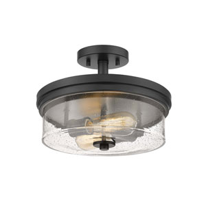 Bohin Matte Black Two-Light Semi-Flush Mount