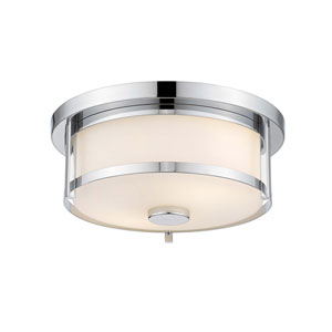 Savannah Chrome  Two-Light Flush Mount