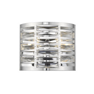 Cronise Chrome 9-Inch Two-Light Wall Sconce