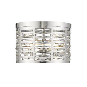 Cronise Chrome Three-Light Flush Mount