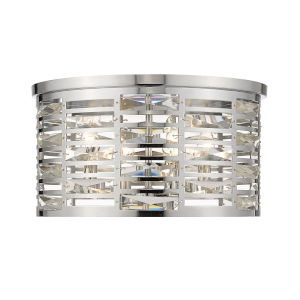 Cronise Chrome 15-Inch Four-Light Flush Mount