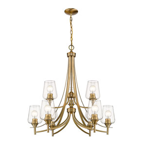 Joliet Olde Brass Nine-Light Chandelier